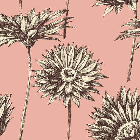 Illustration pour Retro floral seamless pattern - image libre de droit