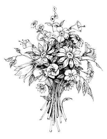 Illustration for Bunch of flowers - Royalty Free Image