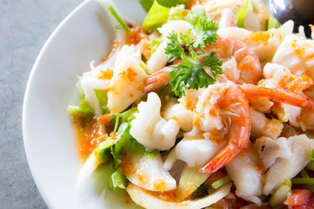 Photo for delicious spicy seafood thai food - Royalty Free Image