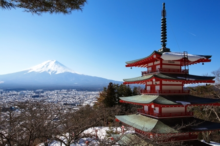 Mountain Fuji in winter