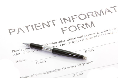 Photo pour  Patient Form - image libre de droit