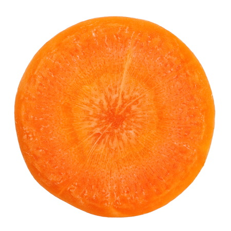 Photo pour Fresh carrot slice on a white background - image libre de droit