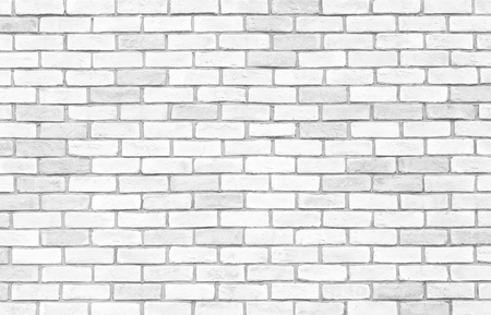 Foto de White brick wall texture and seamless background - Imagen libre de derechos