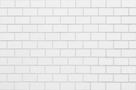 Photo pour White brick wall seamless background and texture - image libre de droit