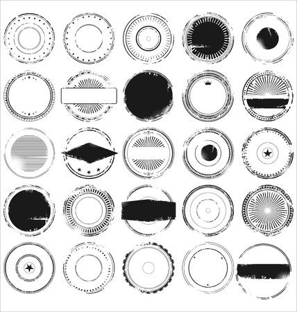 Illustration pour Abstract grunge rubber stamp set - image libre de droit