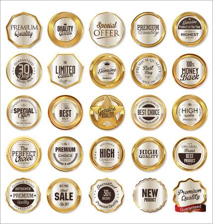 Illustration pour Golden labels collection - image libre de droit