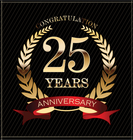 Illustration for Anniversary label  25 years - Royalty Free Image