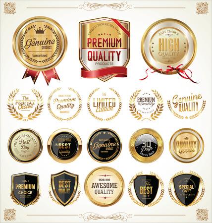 Illustration pour Golden labels collection illustration  - image libre de droit