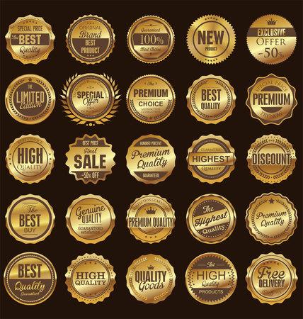 Illustration pour Retro badges and labels collection - image libre de droit