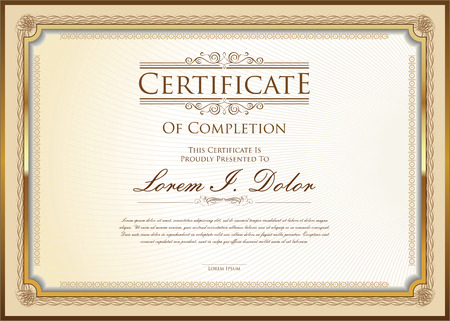 Illustration pour certificate template - image libre de droit