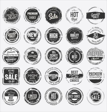 Illustration pour Grunge rubber stamp premium quality collection - image libre de droit