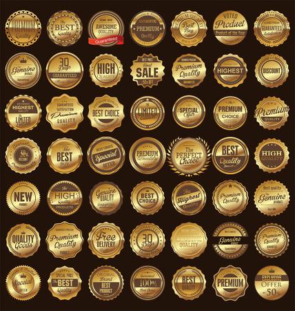 Ilustración de Premium, quality retro vintage labels collection - Imagen libre de derechos