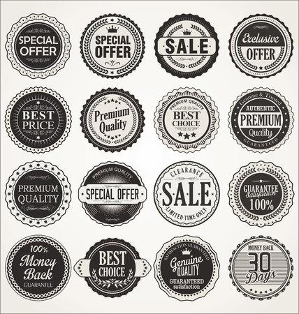 Photo pour Premium, quality retro vintage labels collection - image libre de droit