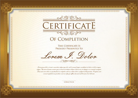 Illustrazione per Certificate or diploma template - Immagini Royalty Free
