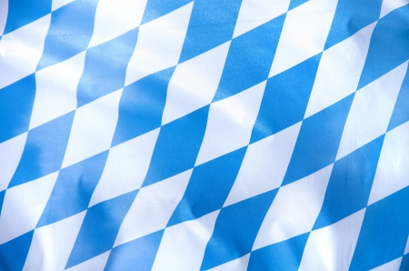 Foto de blue and white bavarian flag waving in the wind - Imagen libre de derechos