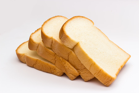 Photo for slice of bread on white background - Royalty Free Image