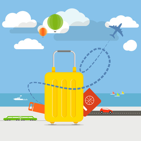 Illustration pour Vacation traveling concept illustration - image libre de droit