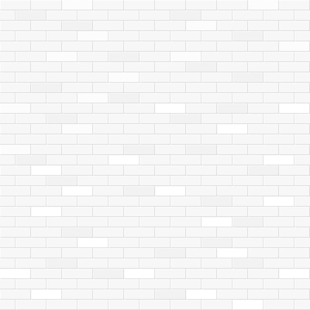 Illustration pour White brick wall seamless pattern - image libre de droit