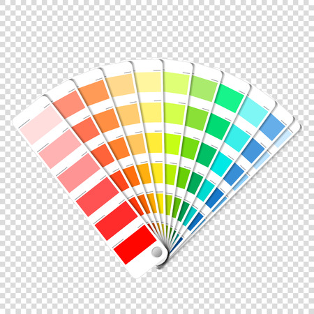 Ilustración de Color palette guide on transparent background - Imagen libre de derechos