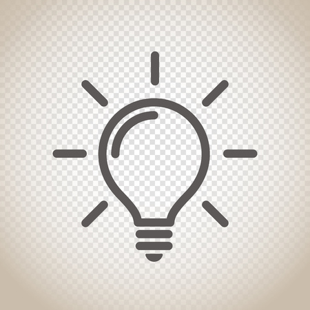 Illustration pour Light bulb vector icon on transparent background - image libre de droit