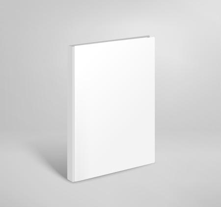 Ilustración de 3d blank thin book vector mockup. Paper book template - Imagen libre de derechos