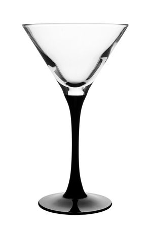 Foto de Empty martini glass isolated on white background. - Imagen libre de derechos