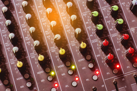Photo for Button Volume audio mixer. - Royalty Free Image