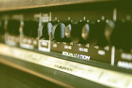 Photo for Slide the volume control sound audio mixer. - Royalty Free Image