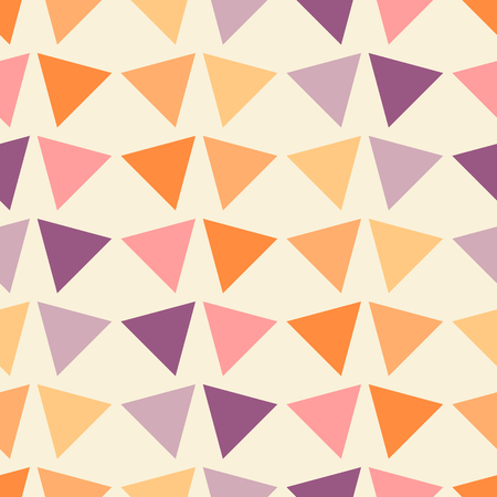 Illustration for Vector illustration seamless geometric pattern with triangles. - Royalty Free Image