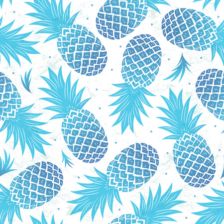Illustration pour Vintage pineapple seamless - image libre de droit