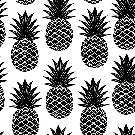 Photo pour Vintage pineapple seamless - image libre de droit
