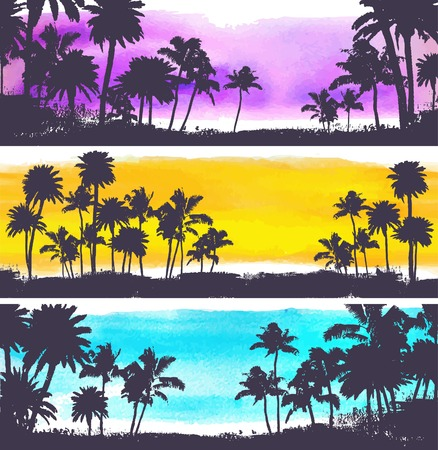 Illustration pour Vector Palm trees illustration - image libre de droit