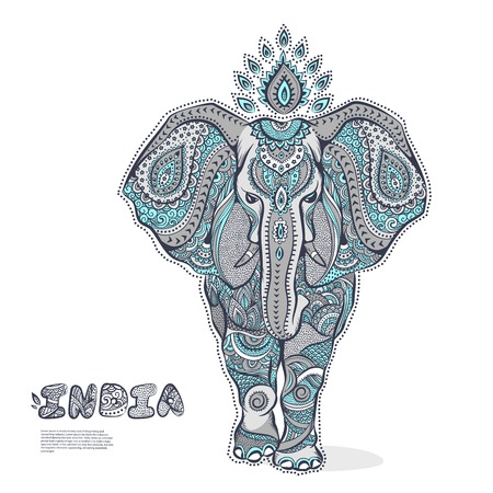 Illustration for Vector Vintage elephant illustration for your business - Royalty Free Image