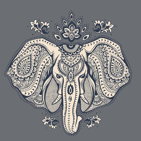 Illustration pour Vintage elephant illustration can be used as a greeting card - image libre de droit