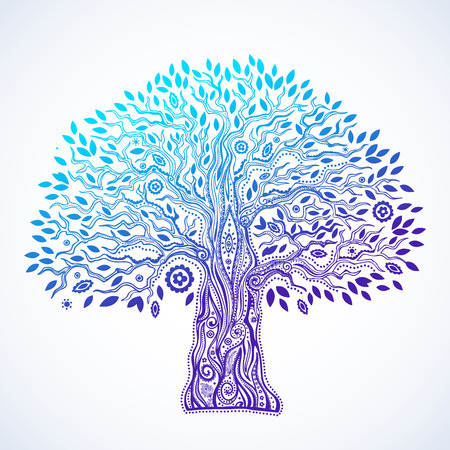 Ilustración de Beautiful Unique ethnic tree of life illustration - Imagen libre de derechos