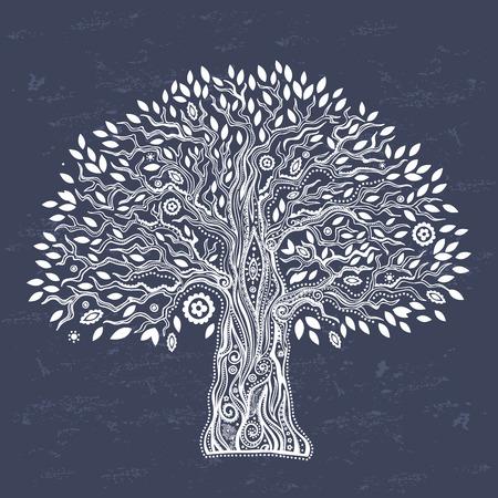 Illustration pour Beautiful Unique ethnic tree of life illustration - image libre de droit