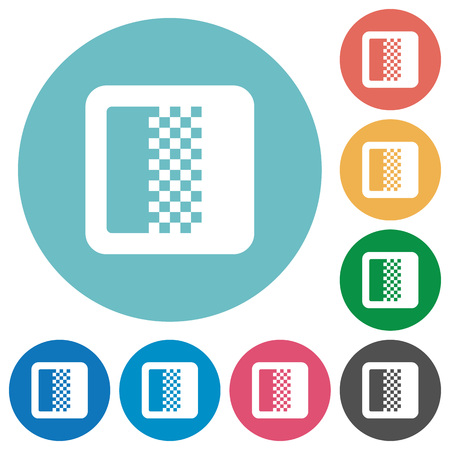 Ilustración de Color gradient flat white icons on round color backgrounds - Imagen libre de derechos