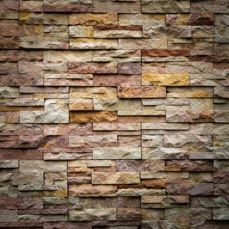 Foto de pattern of decorative slate stone wall surface - Imagen libre de derechos