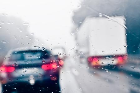 Photo for Commuter Traffic - Traffic Jam on an Expressway  Motorway  - Royalty Free Image