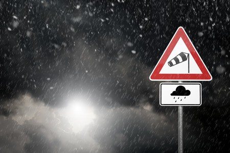 Bad Weather - Caution - Risk of Heavy Rain and Storm