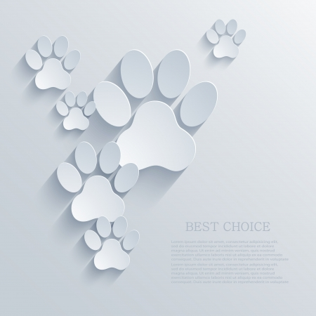 Illustration for vector paw - Royalty Free Image