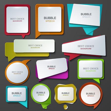 Illustration pour Vector modern bubble speech icons set. - image libre de droit