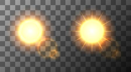 Ilustración de Vector modern sun set background. sunshine design.   - Imagen libre de derechos