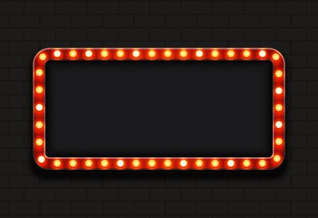 Illustration pour modern retro billboard background with place for your text - image libre de droit