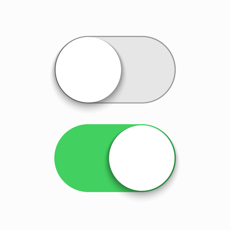 Illustration pour Vector modern green slider button on white background. - image libre de droit