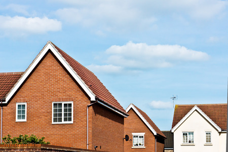 Photo for Modern new build homes in Bury St Edmunds, UK - Royalty Free Image