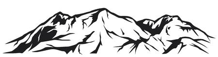 Illustration pour illustration of mountain landscape - image libre de droit