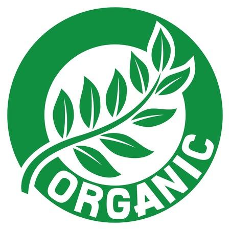 Ilustración de leaf, organic sign  seal, symbol  - Imagen libre de derechos