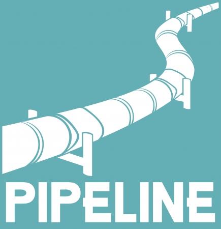 Illustration pour pipeline design  pipeline sign  - image libre de droit