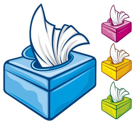 Ilustración de tissue boxes  box of tissues, box of wipes  - Imagen libre de derechos